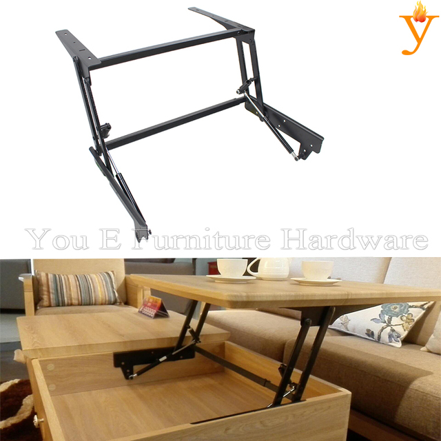 Lift Up And Down Safety Coffee Table Computer Table Frame Furniture Hinge  Extending Mechanism With Damping