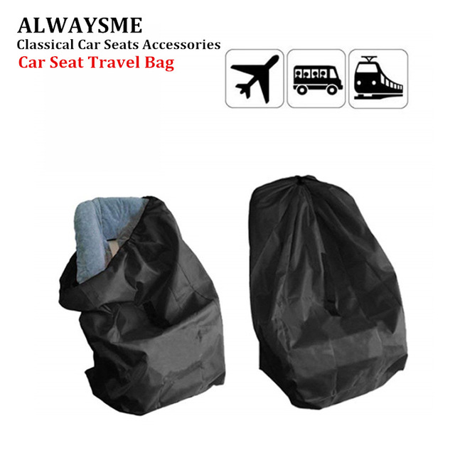 Alwaysme 86x43x43cm Baby Car Seat Travel Bag Airport Gate Check With Strap And Drawstring Closure