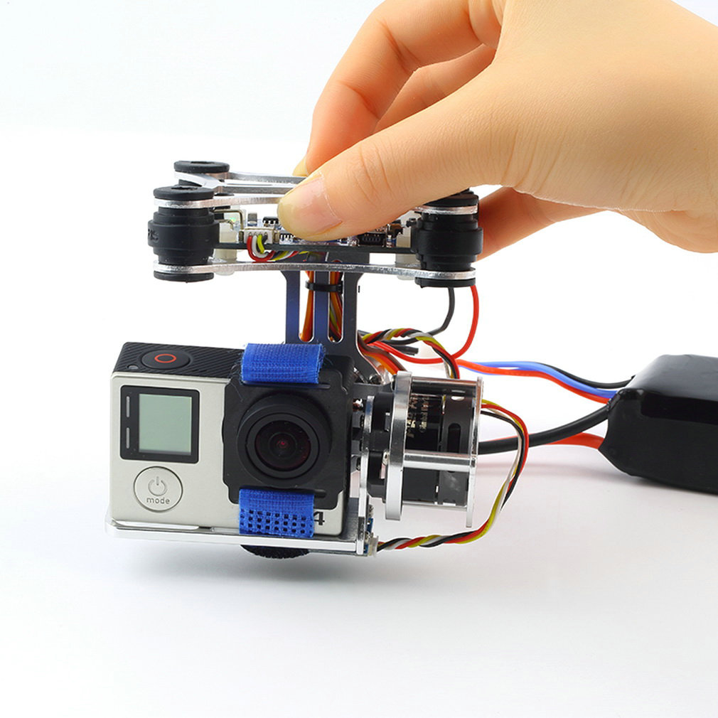 цена на drones with camera hd Super Light Phantom Gopro 34 CNC Brushless Motor Camera Gimbal with BGC Controller RTF only 163grams parts