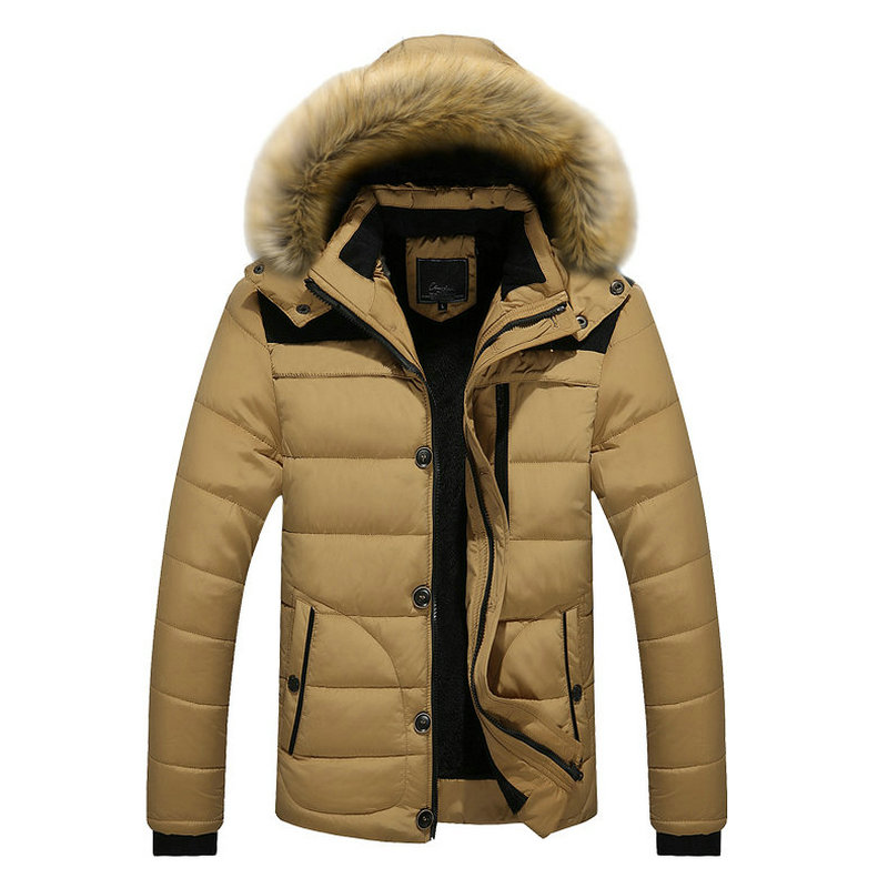 Drop Shipping New Arrival Warm Winter Jacket Men Hooded Casual Slim Parka Men's Winter Coat LBZ16
