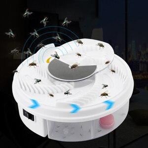 Image 2 - חשמלי Flycatcher אוטומטי לטוס מלכודת מכשיר עם לכידת מזון טוס התפסן/הצייד הדברה חרקים Flytrap USB סוג לטוס מלכודת פיתיון