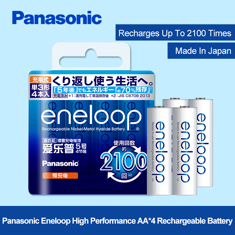 Panasonic 4pcs/lot 1.2V 2000mAh AA Pre-Charged Rechargeable Batteries Ni-MH Rechargeable aa Battery For Toys Camera Microphone hot sale 4pcs pack soshine ni mh aa 1 2v 2700mah rechargeable batteries portable battery box for toys cameras flashlights