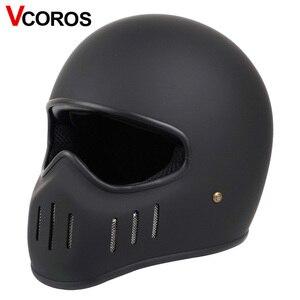 Image 1 - VCOROS Japanese TT CO full face motorcycle helmet fibe glass motorbike helmet Ghost Rider vintage racing locomotive moto helmet