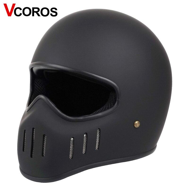 VCOROS Japanese tt&co full face motorcycle helmet fibe glass motorbike helmet Ghost Rider vintage racing locomotive moto helmet-in Helmets from Automobiles & Motorcycles