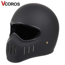 Шлем мотоциклетный VCOROS TT CO, японский шлем для езды на мотоцикле, винтажный гоночный локомотив