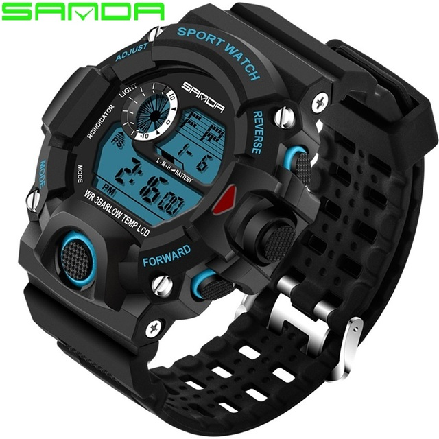 8acca3892 Esportes Relógios para Homens À Prova D  Água S Choque Relógio Militar  Homens Marca de