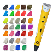 Dewang дешевые 3d перо принтер с 350 м 33 цвет pla бесплатно накаливания ес/сша/великобритания/au plug адаптер 3d пера