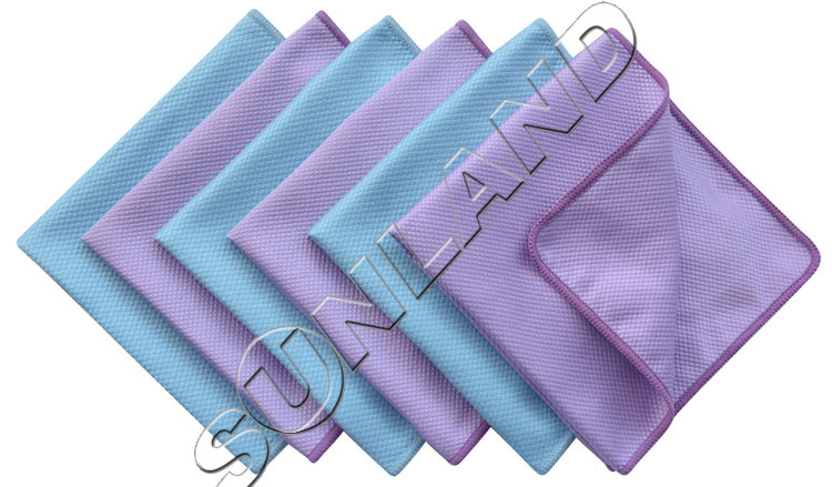 50pcs 40cmx40cm Microfiber Polishing Cleaning Towels Glass Stainless Steel Deep Shine Cloth Window Windshield cloth