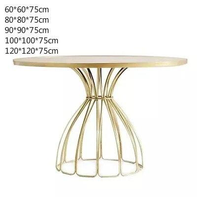 Луи Мода кафе столы скандинавские мраморные железные Золотые круглые журнальные переговоров