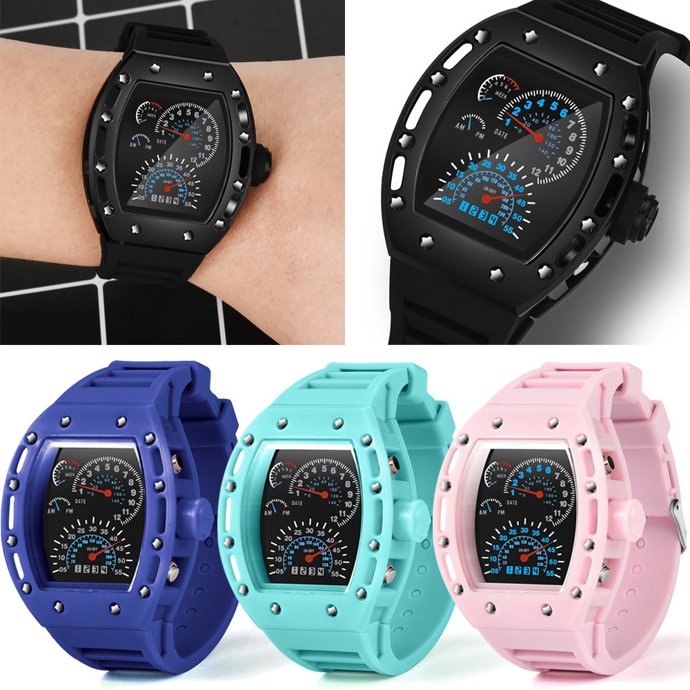 Generous Sanda Luxury Brand Outdoor Men Watch Multifunction Waterproof Compass Chronograph Led Digital Sports Watches Modern Design Men's Watches Watches
