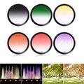 37mm Graduated Filter Gradual Red Blue Purple Orange Pink Green Yellow UV Lens Filter Screw Mount For  37mm lens filter