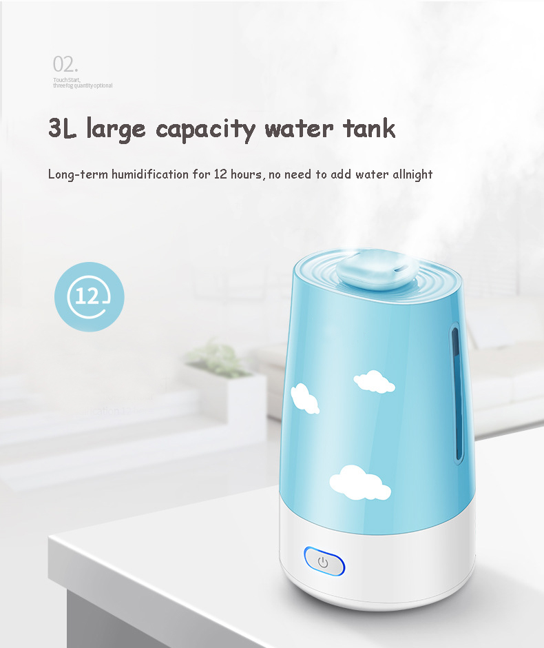 Ultrasonic Air Humidifier Essential Oil Diffuser Electric Aroma Diffuser Mist Maker Aromatherapy Machine For Home Office EU