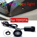Автомобильный светодиодный светильник, 2 шт., для Toyota corolla rav4 camry auris avensis vios yaris GS Logo, лазерный проектор, светильник, аксессуары