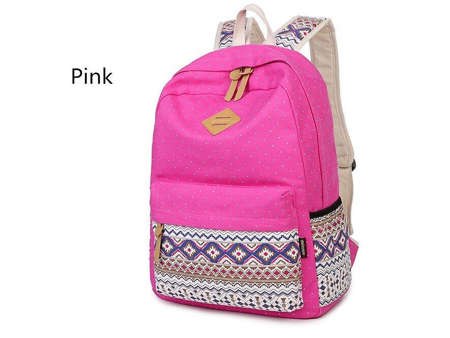 Корейский печати холст рюкзак Для женщин Школьные ранцы для подростков Обувь для девочек милый книга Сумки Винтаж ноутбука Рюкзаки женский