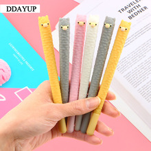 2Pcs/lot Kawaii Cartoon Alpaca Shape Gel Pen Student Stationery Novelty Gift School Material Office Supplies
