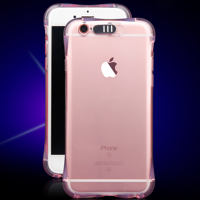 High Quality Transparent Luminous LED Flash Back Cover Shell For iPhone Models 4