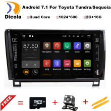 4G LTE Quad Core Android 7.1.1 2GB RAM 16GB ROM Car DVD Player for Toyota Tundra Sequoia Radio Stereo GPS Navigation system