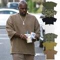 Verão Kanye West Yezzy Camisa Sólida T Justin Bieber Yezzy Camiseta de Algodão Sólida
