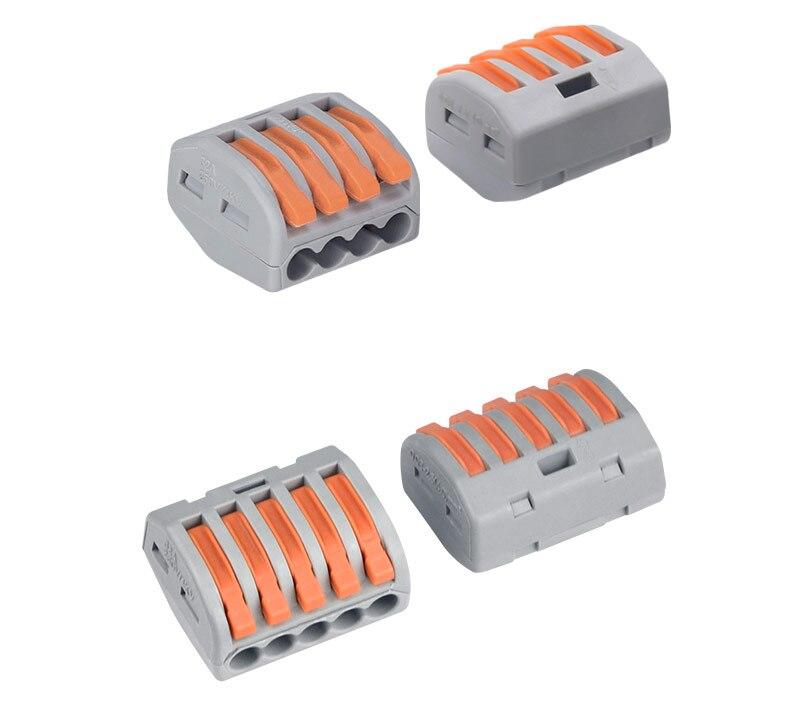 100/20/10 шт. 222-412 222-413 222-415 клеммы соединители 0,08-2,5 мм мини-разъем провода Проводник винторезный станок сплиттер