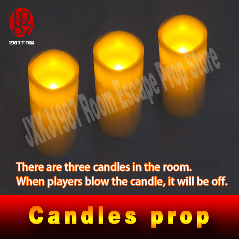 Real life escape room game propTAKAGISM game prop blow candles out or up in order blow