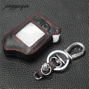 Image 3 - jingyuqin M13 M14 Leather Case For Scher Khan Magicar 13 14 m110as AUTO SIGNALS Car Alarm Remote Controller LCD Keychain Cover