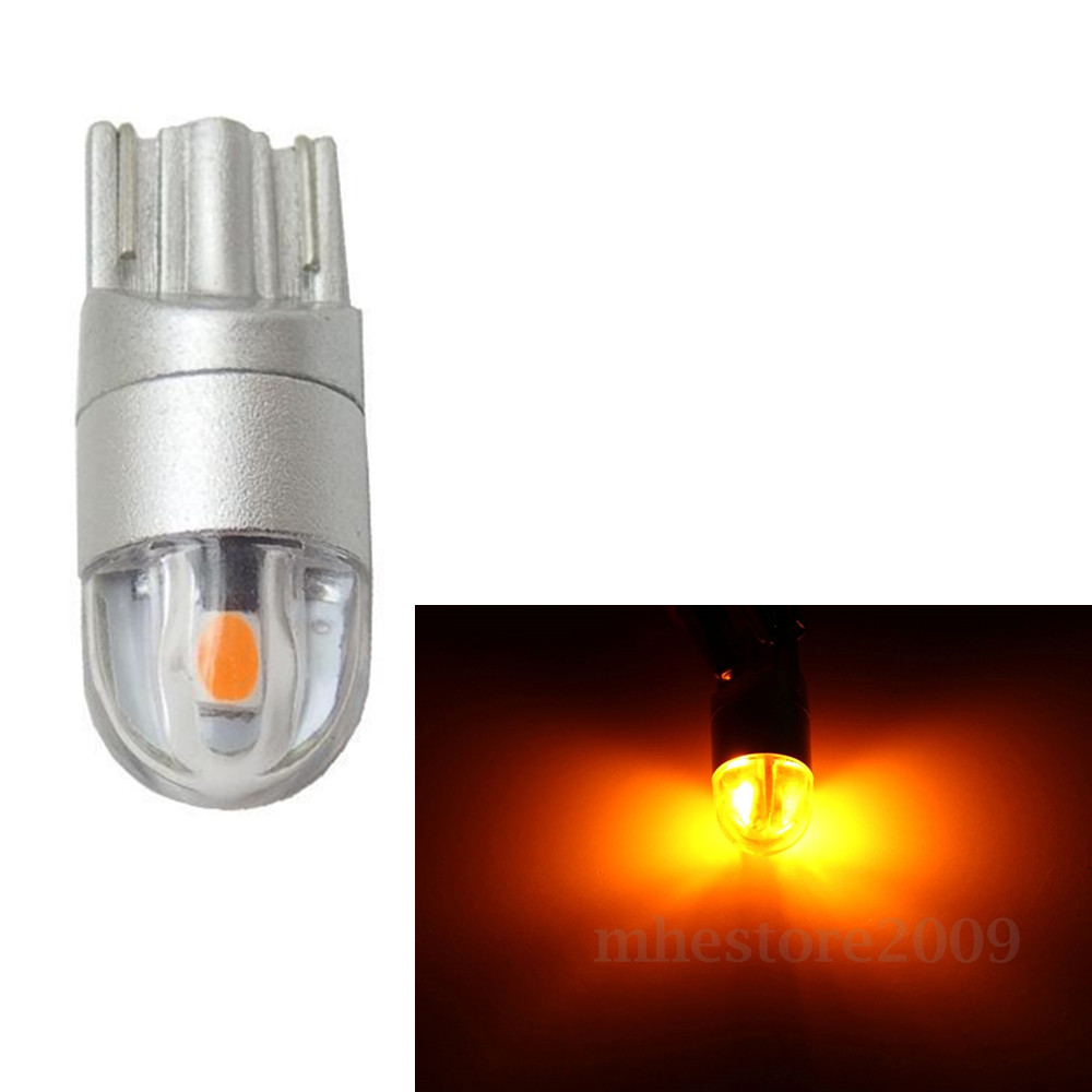 CYAN SOIL BAY T10 Bulb 168 501 W5W LED Lamp Wedge 3030 2 SMD Interior Light Bulb 12V Amber Yellow cyan soil bay 10x t10 57 smd 3014 led canbus error free parking light w5w wy5w w16w t15 194 2825 57smd wedge tail side lamp bulb