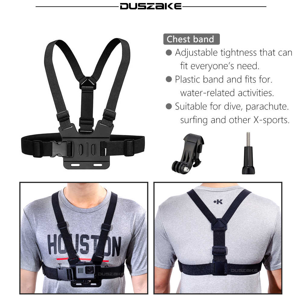 DUSZAKE DG27 Kit For Gopro Accessories Strap For Go pro Hero 5 Xiaomi Yi 4K Mount For Gopro Accessories Set For Go pro Hero 6