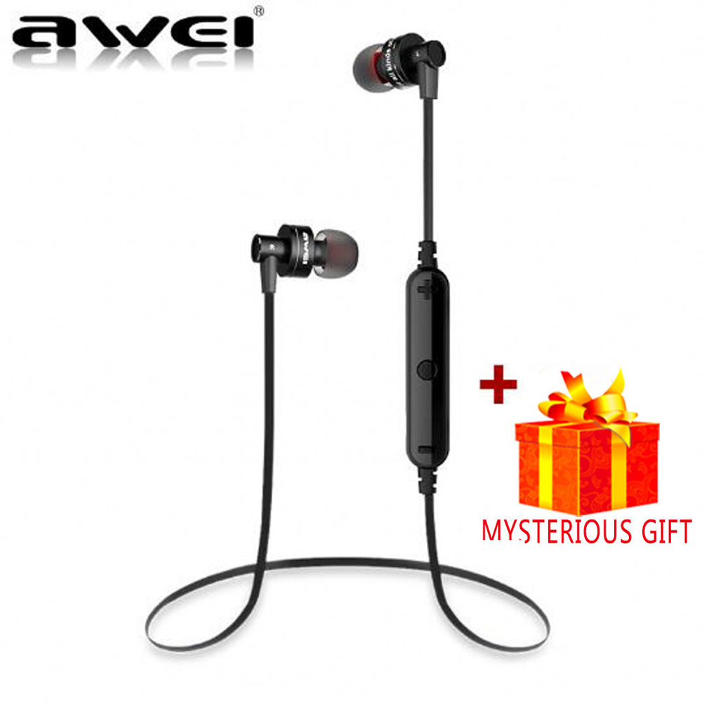 Awei Stereo Sport Auriculares Bluetooth Headset Earphone For In Ear Bud Phone Cordless Wireless Headphone iPhone Earpiece Earbud bluetooth v4 1 wireless sport running earphone stereo in ear magnet earbud with microphone earphone for iphone sumsang xiaomi