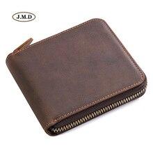 J.M.D New Arrivals Genuine Leather Brown Color Fashion Purse ID Card Holder Coin Pocket Wallet Money Holder R-8169R