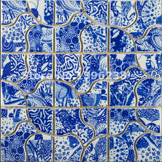 Hot Glazed Flower ceramic mosaic wall tiles,Kitchen/TV/Bath shower/background wall floor decor mosaic wall tile sticker,LSQHC03 sea shell mosaic tiles seamless join natural pure white color kitchen wall mosaics tile hot sale free shipping