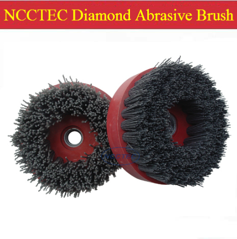 4'' Diamond Abrasive Brush FREE Shipping | 100mm Snail Buckle Antique Renovation Brush For Granite Marble Limestone Travertine