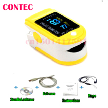 CMS50D Yellow Digital Ecectric Portable Home Health Care Fingertip Pulse Oximeter With Software oximetro