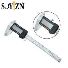 Cheapest prices SUYIZN LCD Digital Vernier Caliper Stainless Steel Metal + Plastic casing Diagnostic-tool Calipers 0-150mm/6″ With Box ZK182