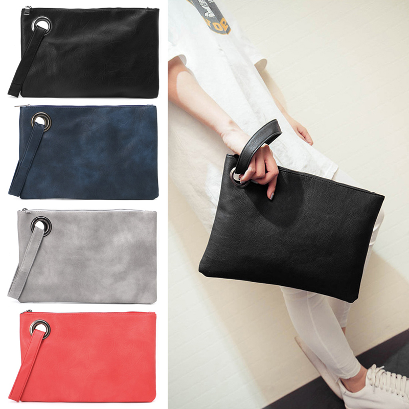 New 1Pc Women Leather Wallet Clutch Card Phone Holder Straps Purse Envelope Long Handbag Gift  new arrive 1pc women lady faux leather clutch envelope wallet long card holder purse hollow hot