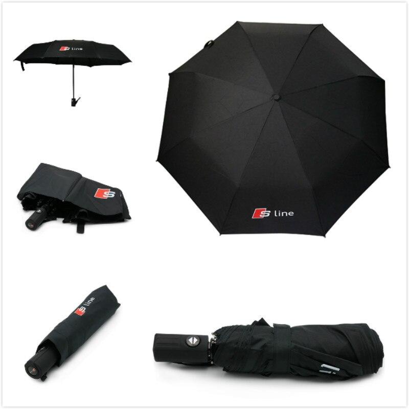 Pour Audi Parapluie De Voiture Logo Parapluie Pour Audi A3 8 P 8 V A4 B5 B6 B7 B8 A6 C5 A5 TT Q3 Q5 Q7 80 100 A1 A2 A7 A8 S3 S4 Quattro Sline