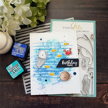 Eastshape Sea World Stamp and Die for DIY Scrapbooking Under The Crab Cut Set Card Crafts Metal Cutting Dies Clear