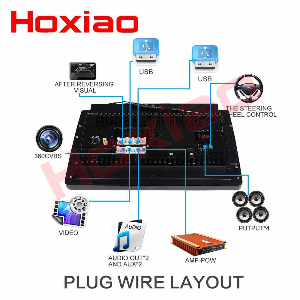 Coche estéreo Universal 1din o 2din Android Cable de alimentación BT radio GPS HD reproductor multimedia accesorio para hoxiao Toyota corolla