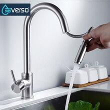 Everso смеситель для кухни потушить латунь Раковина Смеситель кухонный коснитесь разбрызгивателем бортике 360 Поворотный torneira де Cozinha
