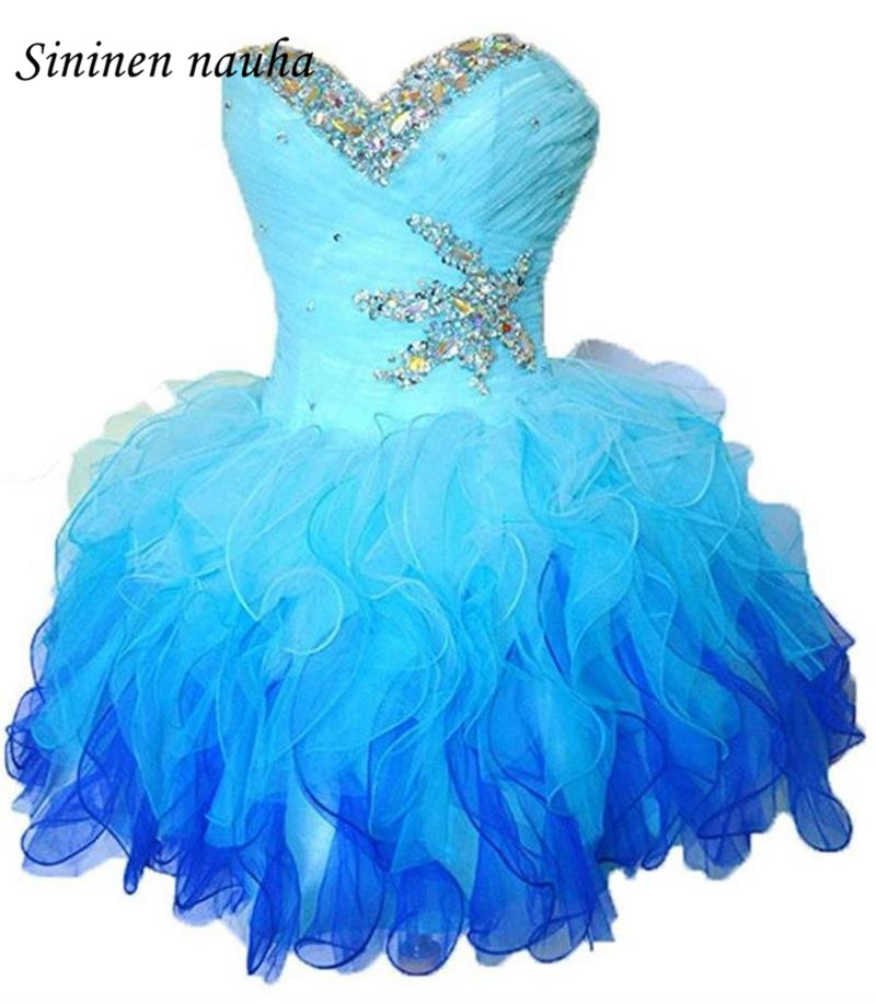 Short Prom Dress Homecoming Dresses 2018 Sweetheart Beaded Lace Up ...