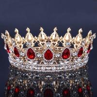 Top Grade Prom Queen Crown Quinceanera Pageant Crown Princess Rhinestone Crystal Bridal Crown Tiaras for Women Wedding Headpiece