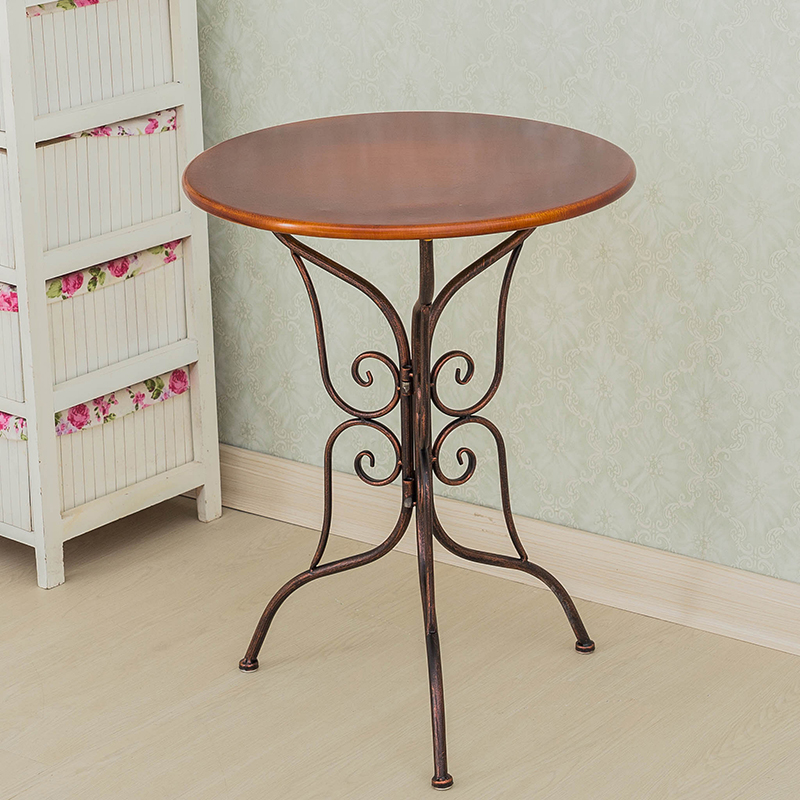 Metal Unique Table Simple Modern Iron Table Round Table Creative Tea Coffee Table for Apartment end table