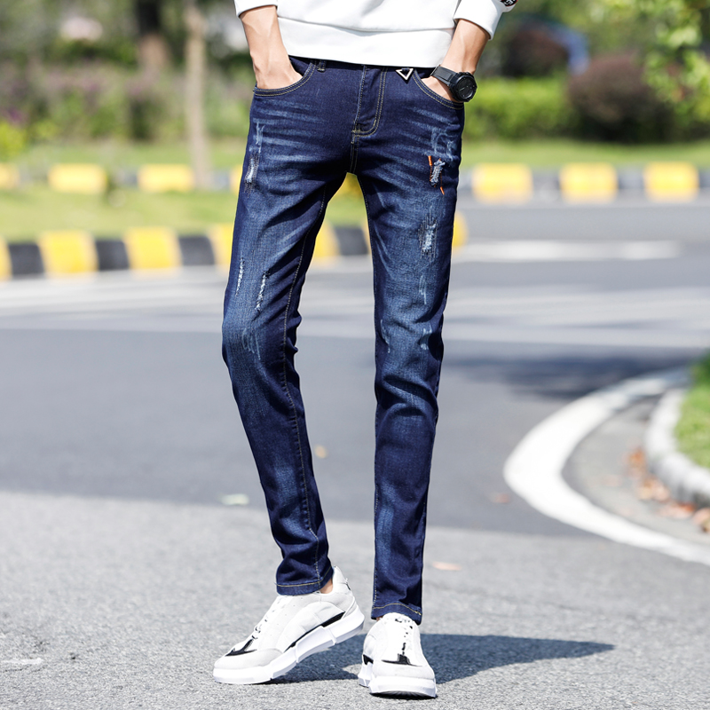 Pantalones Vaqueros Ajustados Para Hombre Jeans Con Garras De Gato Moda Juvenil Primavera 2020 Pantalones Vaqueros Aliexpress