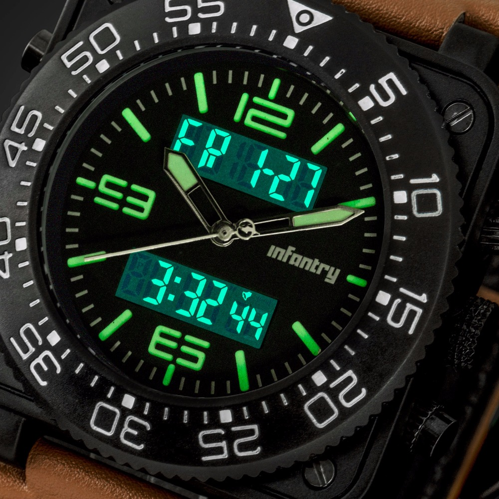 INFANTRY Men Sports Watches Military Nylon Strap Quartz Digital - Herrklockor - Foto 6