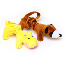 New Cute Pet Toy Sound Toy For Dog Animals Plush Raccoon Hippo Squeaky Toy Make Noise 1Pc