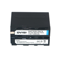 DVISI NP F970 NP F970 NP F960 NP F950 7200mAh Camera Battery For Sony CCD RV100