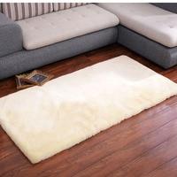 AOZUN Australian Sheared Genuine sheepskin rug for home decoration sheep fur floor mat bed slide carpet cat pad dog mat