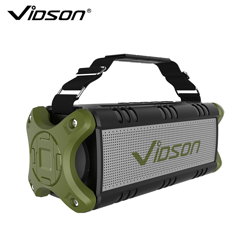 Vidson D8 Outdoor Bluetooth Speakers Wireless 40W High Power Subwoofer 360 Surround Sound 4000 MAh For Mobile Phone Charging