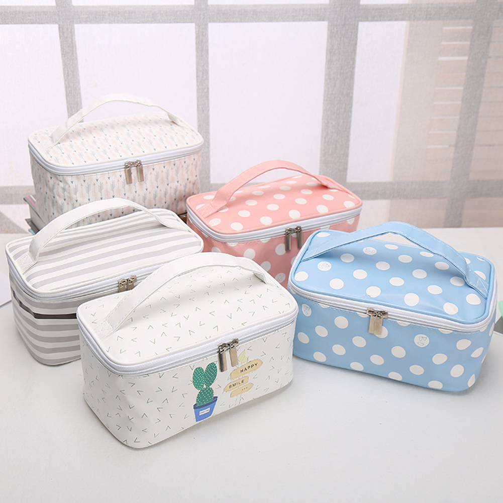Lovely Korean style Women Cosmetic Bags Make Up Travel Toiletry Storage Box Makeup Bag Toiletry Zipper Closure Storage Pouch