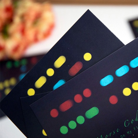 30pcs Morse Code style card multi-use as Scrapbooking party invitation DIY Decoration gift card message card postcard ...