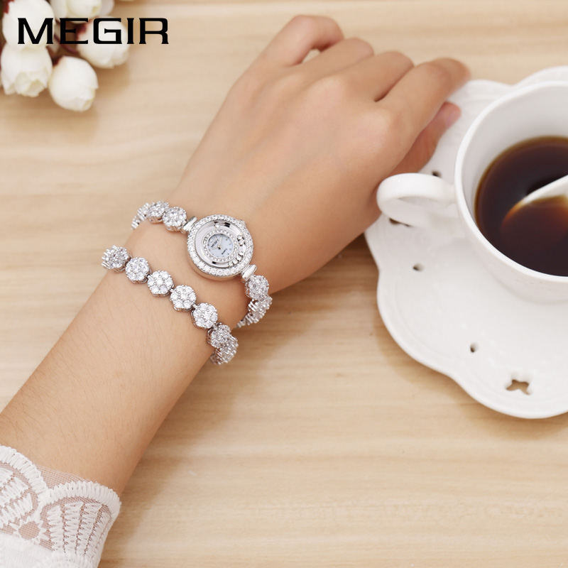 MEGIR Luxury Women Watches Dress Relogio Feminino Clock Watch Women Montre Femme Quartz Ladies Watch for Lovers Girl Friend megir ladies watches rose gold luxury women bracelet watch for lovers fashion girl quartz wristwatch clock relogio feminino 1079